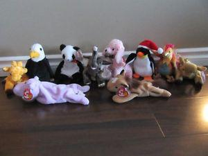 Ty Beanie Babies Stuffed animals with tag