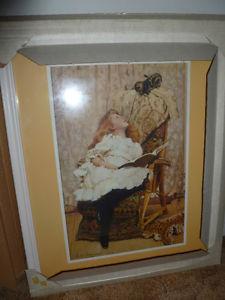 Vintage Framed Charles Burton Barber Prints. In original
