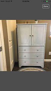 White wooden armoire