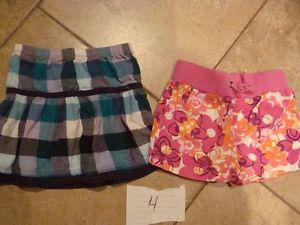 1 skirt and 1 short - size 4