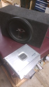 12 inch type x subwoofer in box with 720 wat amp