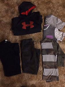 6 piece set boys XL Under Armour hoodie, pants, shirts