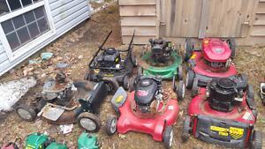 7 mowers parts or repair 60$