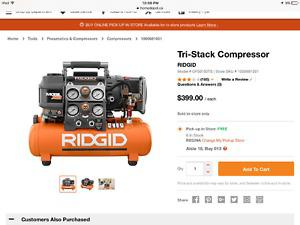Brand new air compressor! Ridgid