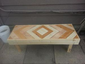 Charming rustic garden bench from reclaimed wood