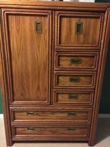 Complete 6 piece solid oak bedroom suite