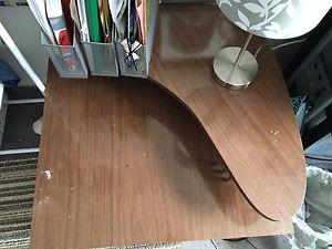 Double layer wood table/desk for sale