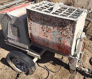 Gas powered concrete mixer