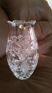 Genuine crystal vase
