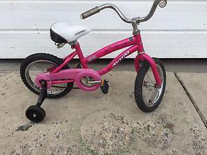 "Girls Avigo Bike with Training Wheels (14"" tires)"