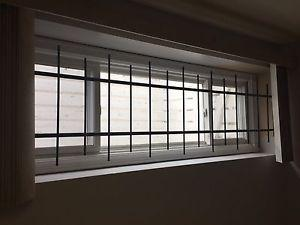 Heavy security bars for 7x2 windows -4 all together