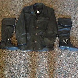 Leather jacket & boots