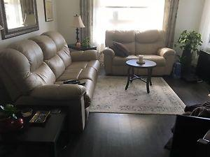 Leather sofa /recliner and love seat/recliner