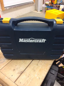 Mastercraft 18v cordless drill with two batteries and
