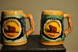 Old Salt Pepper Shakers Yellowstone Park