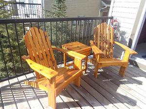 Professional/New Cedar Patio Furniture - Chairs, Tables,