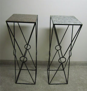 Rod iron table stand