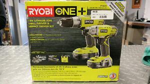 Ryobi One 18v - Drill Driver + Impact Driver