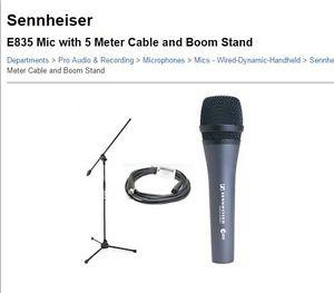 Sennheiser Microphone, stand and cable set