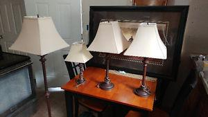 Set of 4 lamps