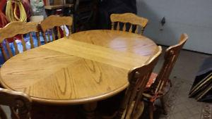 Solid Wood Dining Room Table and Chairs for Sale