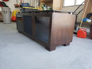Solid Wood Entertainment Unit 3Doors