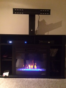 TV Stand with remote Fireplace