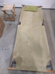 WW2 Army cot with pillow for sale