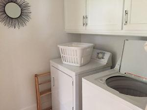Washer & Electric Dryer, White, like new