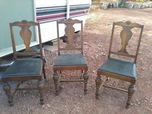 antique dinning table chairs