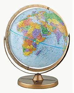 "20"" World Globe with Stand"