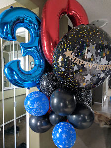 30th birthday balloons - already inflated!