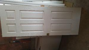 """34"""" pocket door with mirror"""