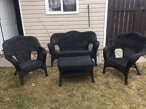 4 piece wicker patio set