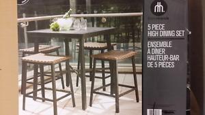 5 Piece Patio High Dining Set --> Brand new
