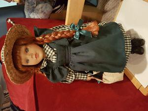 Anne of Green Gables Collector's doll w/ stand and