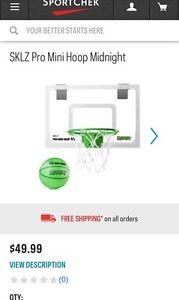 Brand New Sklz Pro mini Hoop Midnight