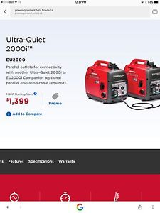 Brand new Honda generator - used twice