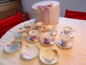 COLLECTABLE TEA CUPS & SAUCERS