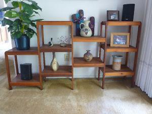 Cedar plant stand, $ & more items