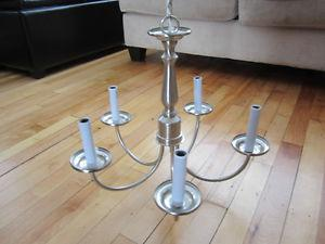 Chandelier in very good condition Brushed nickel finish