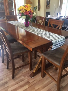 Counter Height Kitchen Table and 8 chairs