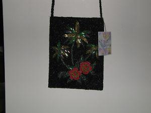 Exceptional Hand Beaded Palm Tree Purse