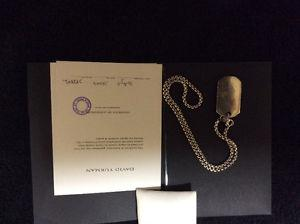 Exquisite limited edition David Yurman men's chain/pendant.