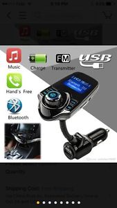 FM Transmitter, Bluetooth Car Kits with Music Control and TF