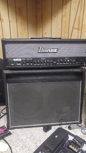 Ibanez TB100H Tone Blaster head and 2 speaker cab for sale