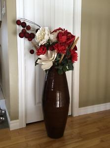 Large brown vase