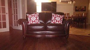 Love Seat en cuir véritable