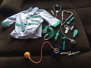 Melissa and Doug doctor outfit + Browns Medical Kit