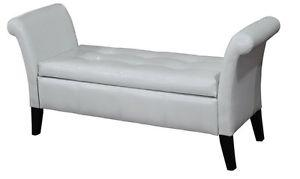 Multi purpose bench with arms and storage, white or dark